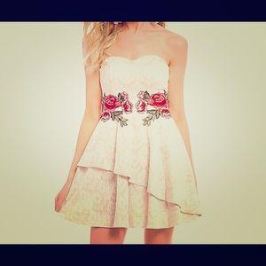 Floral Dress with Rose appliqué